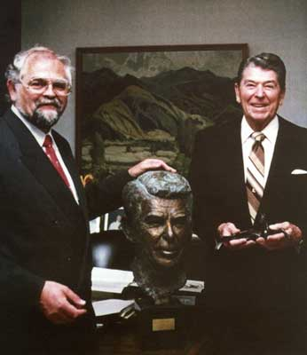 US-PräsidentRonald Reagan und Kurt Arentz