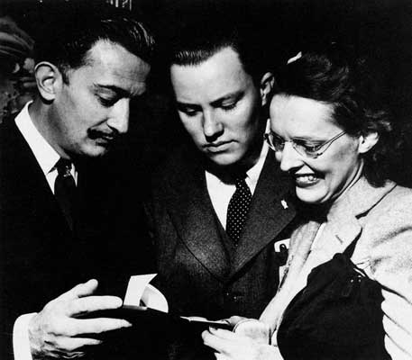 Salvador Dalí mit A.Reynolds Morse und Eleanor Morse
